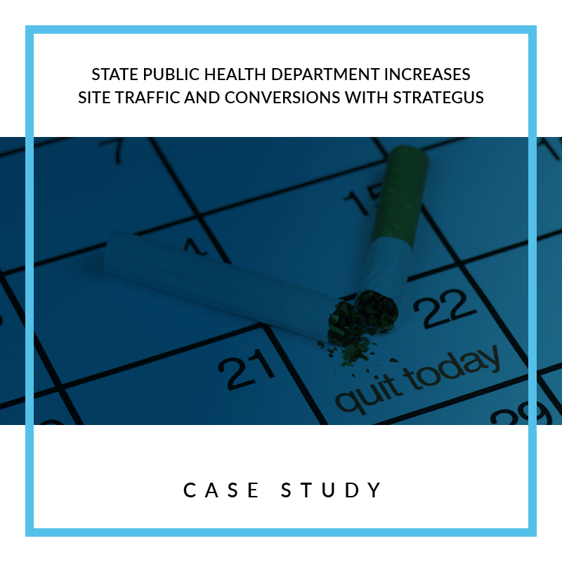 State Public Health Department Increases Site Traffic and Conversions