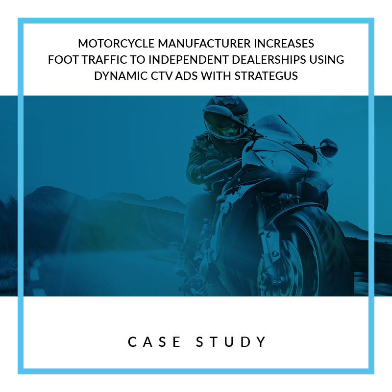 Motorcycle Manufacture Increases Foot Traffic to Independ Dealerships Using Dynami CTV Ads